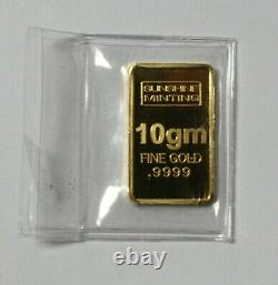 10 gram GOLD BAR. 9999 Sunshine Minting. Sealed. Made in U. S. A
