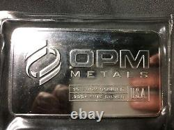 10 oz OPM Metals. 999+ Fine Silver Bar (Sealed) Made in USA