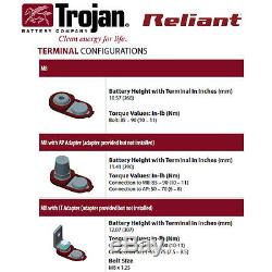 12x Trojan Reliant T875-AGM 8V 160Ah Deep Cycle Sealed AGM Battery Made in USA