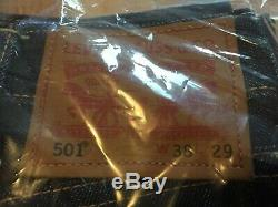 $148 BRAND NEW & SEALED Levi's 501 SELVEDGE Made in USA 38x29 Cone Denim Jeans
