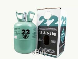 15 lbs, R22 Refrigerant, Charging Hose & Test Gauge, Sealed Fast Free USA Made