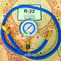 15 lbs, R22 Refrigerant, Charging Hose & Test Gauge, Sealed Fast Free USA Made