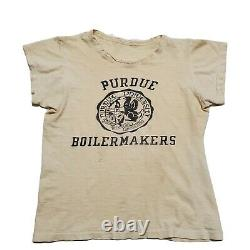 1950s Purdue Boilermakers Tshirt Vintage USA Made Sportswear 40s Athletic Seal