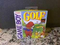 1990 Original Mario Golf 100% Sealed For Gameboy. 1st Print Run Made In japan