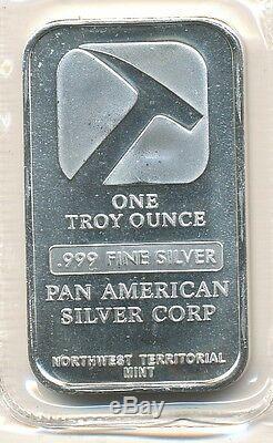 1 oz Pan American Silver Bars (. 999 Pure) Sealed Sheet of 10 Bars U. S. Made