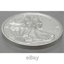 2018 American Eagle 5 oz. 999 Silver USA Made BU Round In Heat Sealed Plastic