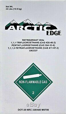 24 lbs. Of R404A R-404A Refrigerant Unopen / Factory Sealed Made In The USA