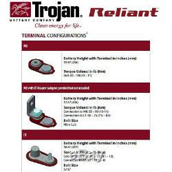 2x Trojan Reliant J185-AGM 12V 200Ah Deep Cycle Sealed AGM Battery Made in USA