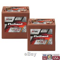 2x Trojan Reliant T105-AGM 6V 217Ah Deep-Cycle Sealed AGM Battery Made in USA
