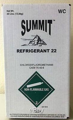 30 lbs R22 Refrigerant Freon New Factory Sealed Made in USA Same Day Shipping