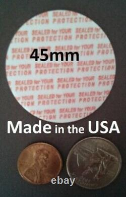 45mm Press & Seal Cap Liners 45 mm Foam Safety Tamper Seals USA Made 50-1000