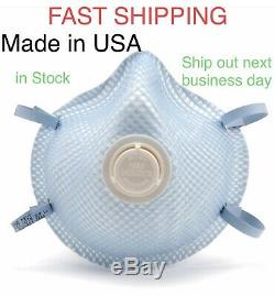 5 in One Sealed Pack Moldex Made in USA 2300 M/L VENTEX Valve Dura-Mesh Mask