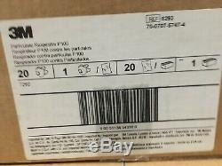 5-pieces 3M 8293 NIOSH P100 Particulate Respi, NEW & SEALED! Made In USA