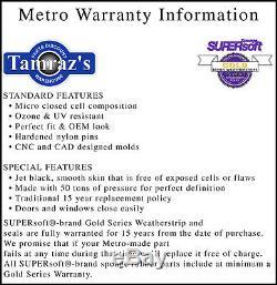 66-70 Toronado Riviera Weatherstrip Seal Kit 2 Door Hardtop 5 Pcs Metro USA MADE