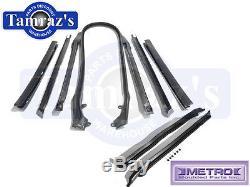 66-7 GM ABody Convertible Top & Pillar Post Weatherstrip Seal Kit Metro USA MADE
