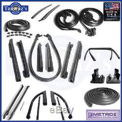 68 GM A Body Weatherstrip Seal Kit 21 Pcs Convertible Metro USA MADE New