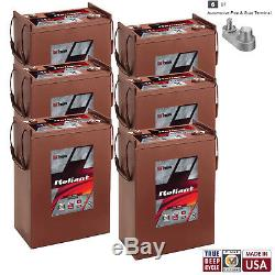 6x Trojan Reliant L16-AGM 6V 370Ah Deep Cycle Sealed AGM Battery Made in USA