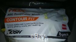 8 Pack Niosh Construction Dust Face Protection/sealed One Size White Made In USA