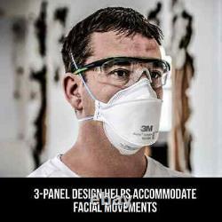 9205+ Aura Box 50 Individually Sealed Face Covers USA Made 03/2026