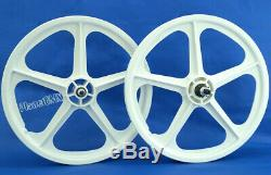 9 Tooth Cassette Skyway 20 TUFF WHEELS II BMX sealed Mags WHITE Made in USA