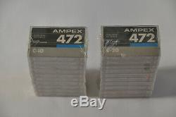AMPEX 472 Rare USA Made Cassette Tapes C-10 COLLECTABLE C-20 Chrome Bias Sealed