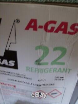 A-GAS r-22 Freon USA MADE 22 Refrigerant r 22 sealed cap Quick 1 day ship out