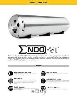 Accuair AA-ENDO-VT45-BC 5 Gal Aluminum Air Tank With 4 Corner Valves 50ft 3/8 Hose