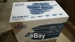 All-Clad D3 Compact Stainless 8-Piece Set ST40008 (Made in USA) NEW & SEALED