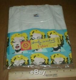 Andy Warhol New Marilyn Monroe XL t-shirt original sealed Made in USA 1993 rare