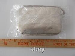 BAGGU Leather Mini Purse Platinum Crossbody Hand Made In USA New withTag Sealed