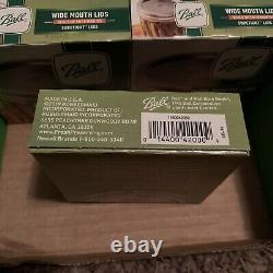 Ball Jars Wide Mouth Lids Lot of 43 Boxes, 12 Count Each NEW Sealed Made in USA