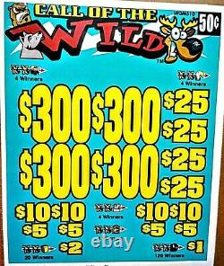 CALL OF THE WILD Pulltabs Pull Tabs 4200cards-580prfit Sealed and Made in USA