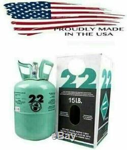 CHEAP R22 R-22 R 22 Refrigerant 15lb Cylinder (Made in USA) Sealed HVAC