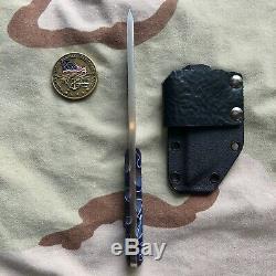 CUSTOM MADE KNIFE TANTO S35vn STEEL / KIRINITE ACRYLIC/ U. S. NAVY SEAL MAKER