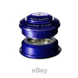 Chris King Inset Internal Sealed Headset Z-type ZS 44mm Blue USA Made