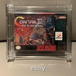 Contra III The Alien Wars (Made In Japan) Super Nintendo SNES Wata 8.0 A Sealed