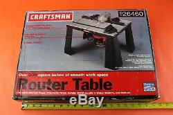 Craftsman Aluminum Router Table 926460 MADE IN USA Factory Sealed