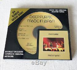 Deep Purple Made In Japan 24 K Gold CD DCC Compact Classics USA 1998 Sealed