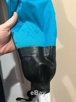 Drysuit OS Systems Fullbody Cold Water Unisex Rubber Latex Seals USA MADE XL