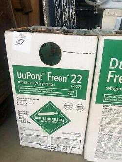 DuPont Freon 22 R22 30 lb new virgin factory sealed new in box made in the USA