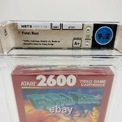 Fatal Run Atari 2600 Red Box 1990'Only 32K Made' RARE Sealed WATA 9.2 A+ WOW