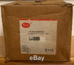 Fireye E110 Flame Monitor Chassis & Cover, 120 V New Factory Sealed Made In USA