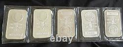 Five Ounces. 999 Fine MADE IN USA Bar Sealed In Plastic 5 COINS