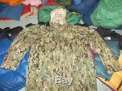 GEN III LEVEL 6 Gore-tex Parka & L 3 Fleece Jacket Coat USA Made AOR2 SEAL Large