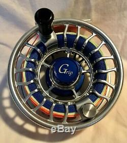 Galvan Grip G-10 Sealed Drag Blue Hub 10/11 Wt Used/mint Condition Made In USA