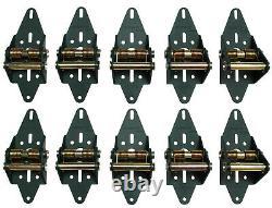 Garage Door Green Hinge System 2 Quiet Nylon Roller / Side Seal 100% USA MADE