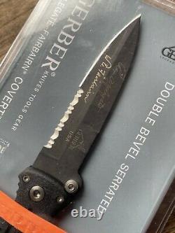 Gerber Applegate Fairbairn Covert knife. Discontinued, sealed. Made in USA