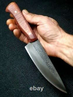 Hand Made 5 3/4 Chefs Knife By Mark Mccoun USA Sealed Tiger Maple