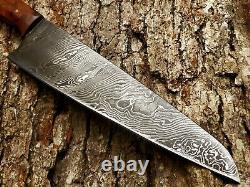 Hand Made Damascus 8 Chefs Knife By Mark Mccoun USA Sealed Thuya Burl