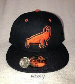 Hat Club Exclusive NEW ERA SF Seals MiLB Fitted Hat Cap 7 3/8 NWT! USA made